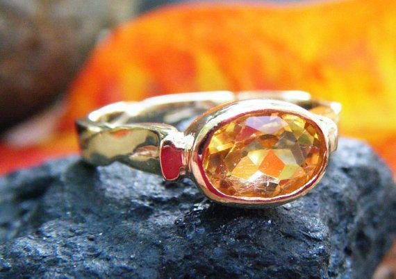Citrine ring  citrus twist Alternative engagement by ExquisiteGem