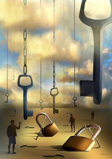 Imagination Surrealism Dream O Mistério das Chaves Suspensas by Marcel Caram