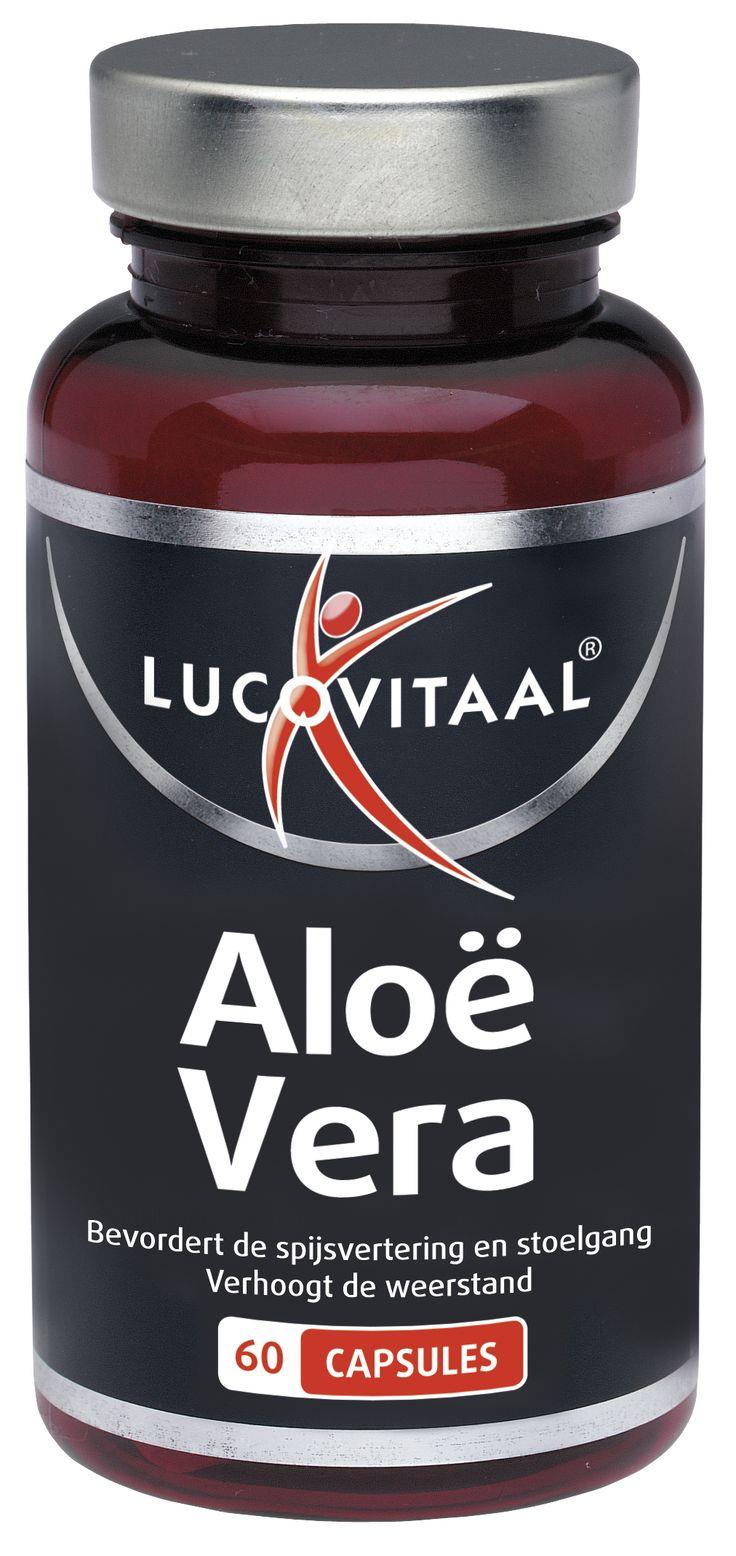Lucovitaal Voedingssupplementen Aloë Vera Extract Capsules 60Caps  Lucovitaal Aloë Vera Extract. Aloë Vera bevordert de spijsvertering en stoelgang verhoogt de weerstand en zorgt voor een goede huidconditie. Bovendien is aloë vera darmreinigend. Gebruik: 1 capsule na de maaltijd met water innemen. Minimaal 24 uur na inname van de eerste capsule kan de dosering desgewenst gedurende een korte periode (enkele dagen) opgevoerd worden tot maximaal 2 à 3 capsules per dag. De aanbevolen dagelijkse…