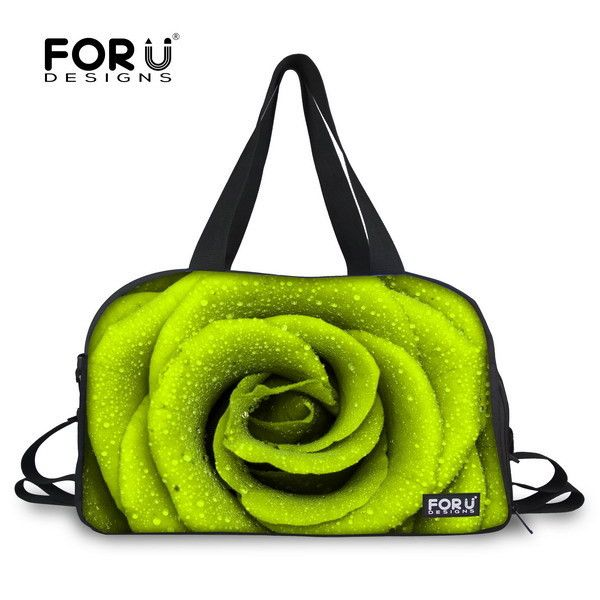 Multicolor Floral Women Gym Tote Bag Flower Printing Female Ladies Gym Bag With Independent Shoe socket Bolsa Fitness Feminina
