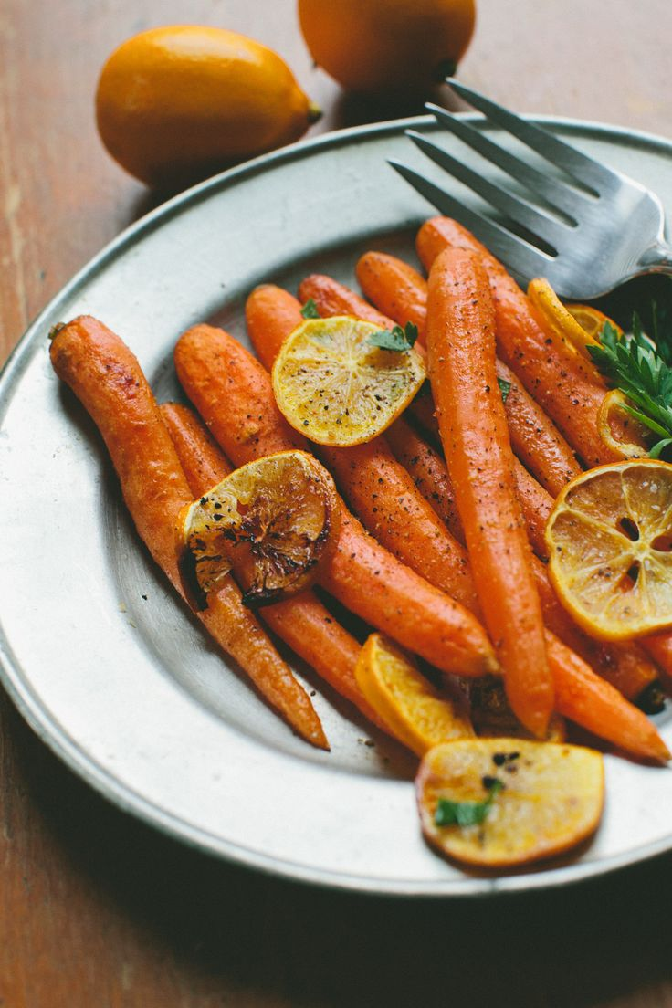 Cumin Roasted Carrots and Meyer Lemon