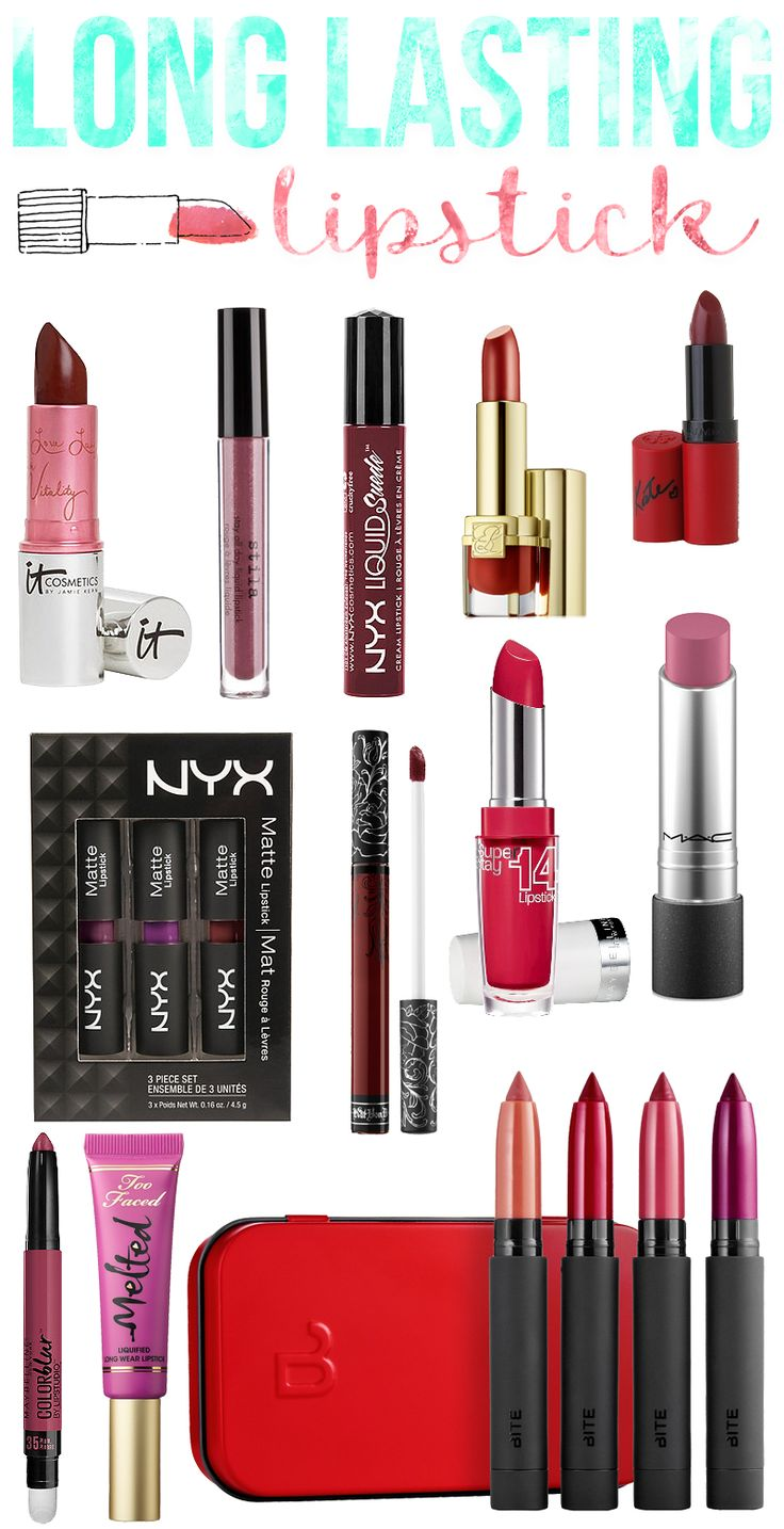 Long Lasting Lipstick Shades