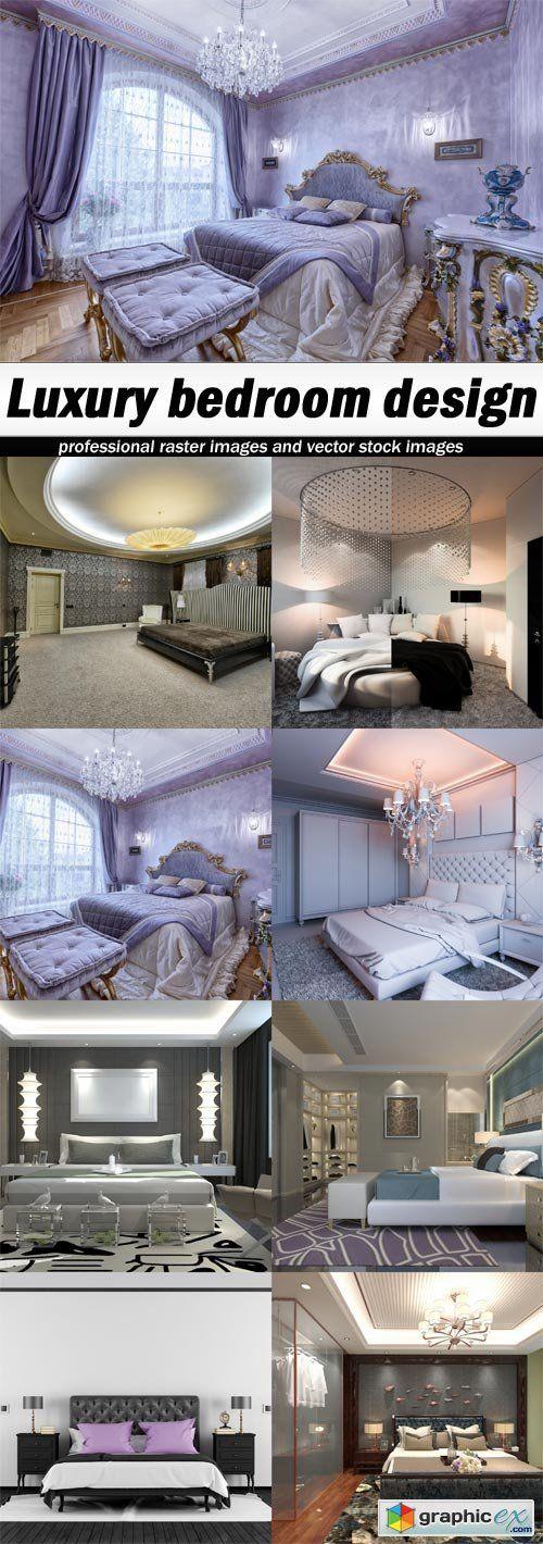 Luxury Bedroom Design 8 UHQ JPEG Stock Images