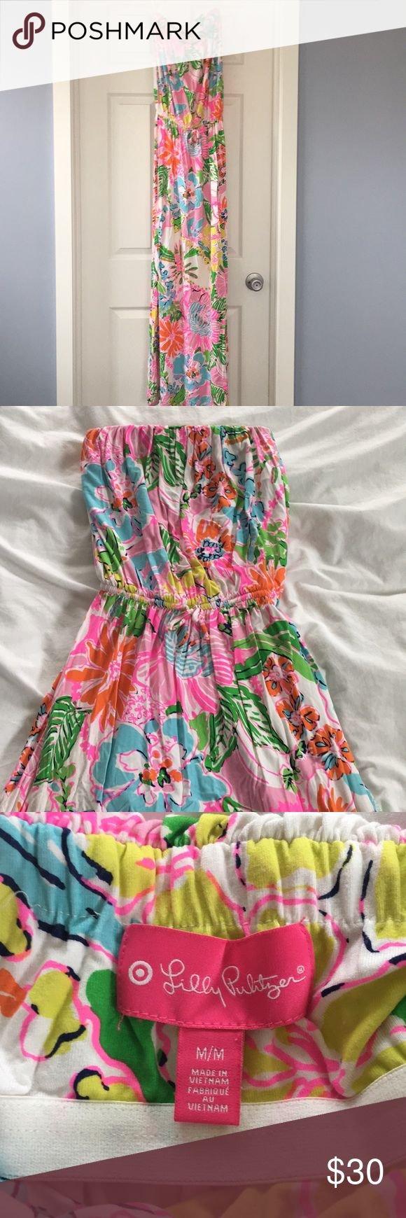 Lilly Pulitzer for Target Maxi Dress Lilly Pulitzer for Target maxi dress. Strapless with Elastic tie waist. Lilly Pulitzer for Target Dresses Maxi
