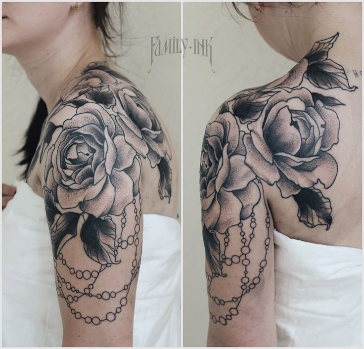 chest rose tattoo | Tumblr