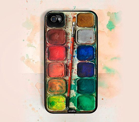 watercolor iPhone case, cute gift for painters