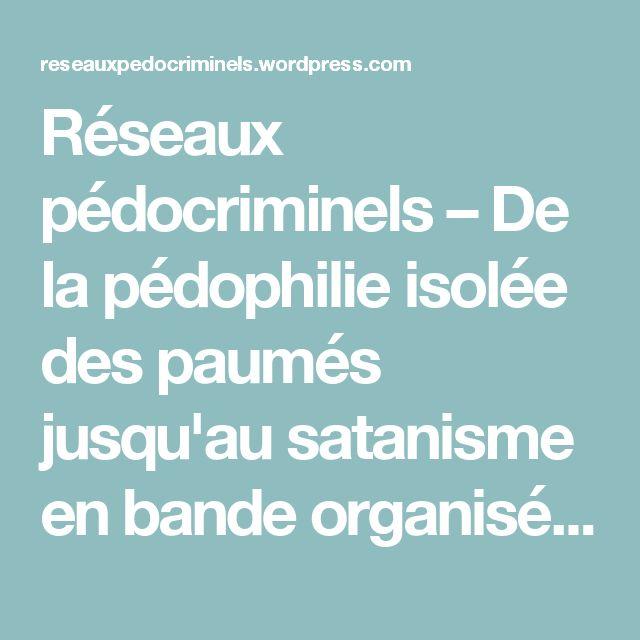 Réseaux pédocriminels – De la pédophilie isolée des paumés jusqu'au satanisme en bande organisée de notables, en passant par le lobbying pro-pédophilie et pro-inceste
