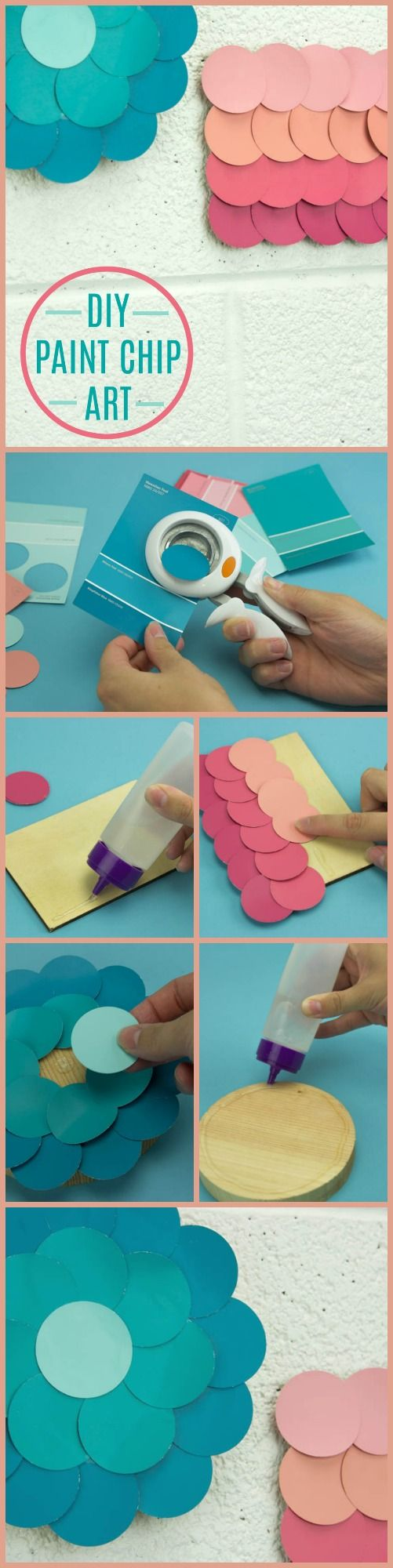 TheseDIY Paint Chip Wall Art ideas are great for your room or dorm and make great gifts for your friends and family.