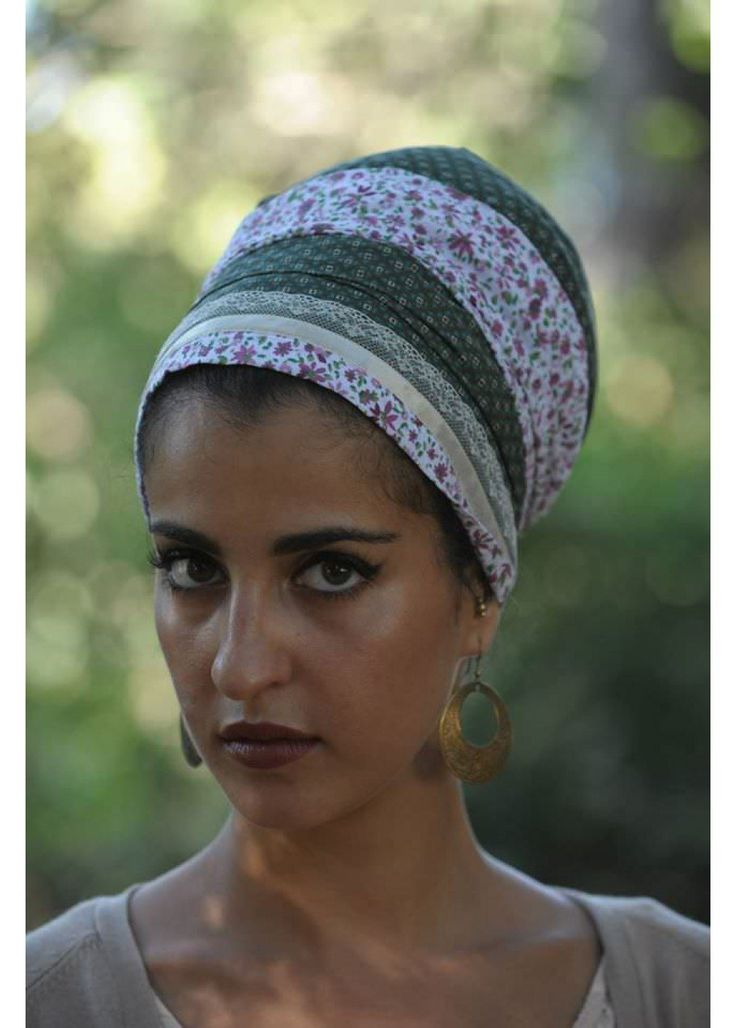 This green & pink patterned head-covering can be worn either on special occasions, such as holidays and special events, or every day. This type of hea...