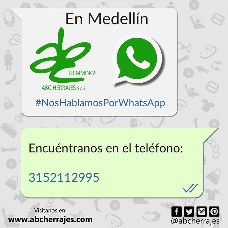 En #ABCherrajes Medellín Nos Hablamos Por #WhatsApp. #Servicio #Contacto #Teléfono #Atención #Medellin #Herrajes #Marquillas Nos puedes encontrar en el número: 3152112995 Visítanos en: www.abcherrajes.com Twitter: @abcherrajes Instagram: @abcherrajes Facebook: abcherrajes Pinterest: abcherrajes