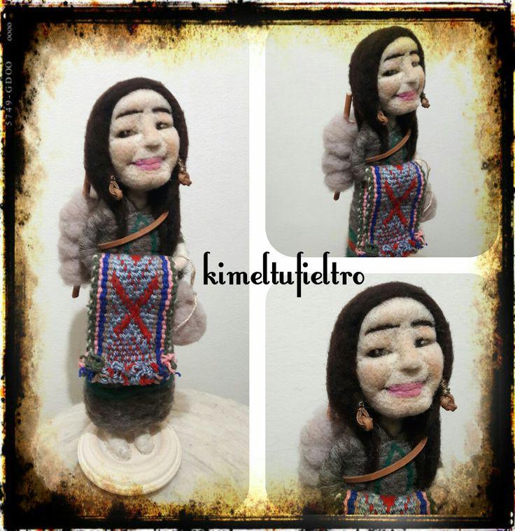 Mujer etnia  Fieltro agujado