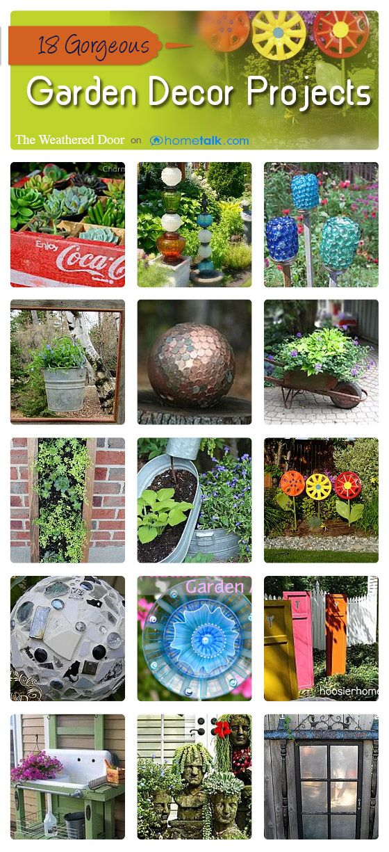 18 Gorgeous Garden Decor Projects | curated by 'The Weathered Door' blog!