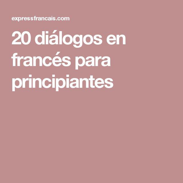 20 diálogos en francés para principiantes