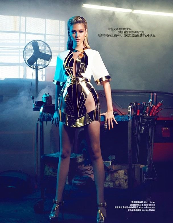 ekans-a-paris:    space fashion part 1  or if mass effects clothing had not been designed by a bunch of nerds lol  aesthetic: plunging necklines metallics crop tops jumpsuits bold make up whacky cutouts  sources:  1) Nicola Peltz Harpers Bazaar China 2014 by Max Abadian (wardrobe by Debbie Hsieh)  2) Another Feather Artemis Collection by Hannah Ferrara  4) Alicia Burke for 1883 Magazine by Harriet MacSween (Makeup by Shelley Blaze)  5) Azaleas NYC CHROMAT: Molly Halter Bikini Top & Bottom…