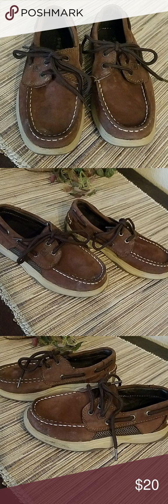 Boys Sperry Top Sider leather Intrepid Boys Sperry Top Sider Leather Intrepid deck shoes Sperry Top-Sider Shoes Water Shoes