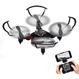 GBlife Mini Pocket Foldable RC Quadcopter Wifi RC Helicopter Phone Remote Control With HD 720P Camera RC Drone(Black)