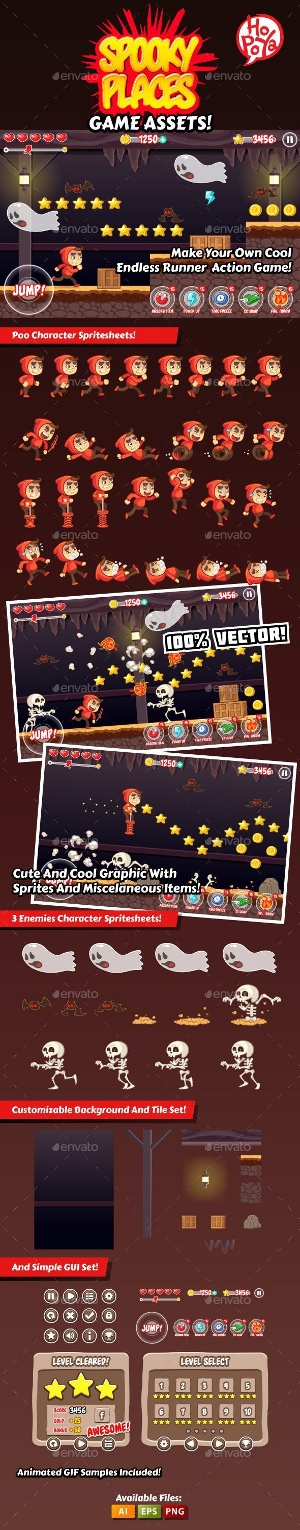 #modern #Spooky #Places #Game #Asset #Template - Game #Kits Game #Assets #design. download here: https://graphicriver.net/item/spooky-places-game-assets/9068866?ref=yinkira