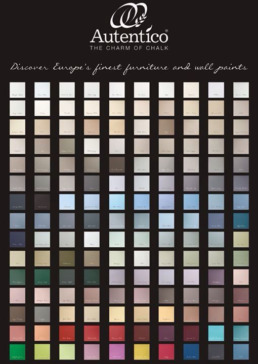 150 Chalk Paint colours !!!! .... Only Autentico does that !!!