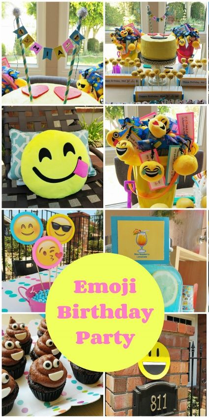 Fun and Colorful Emoji Birthday Party Ideas
