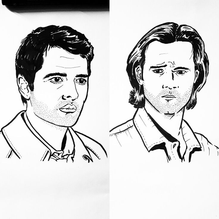 So that's Castiel and Sam done... obviously it's time for Dean and Crowley next... but then on to whom? Lucifer? Despite Mark Pelligrino not being cast in season 12? #Sam #DeanWinchester #samwinchester #sammy #moose #squirrel #Cas #Castiel #jensenackles #MishaCollins #jaredpadalecki @misha @jensenackles @jaredpadalecki #art #artnerd #ink #inktober #season12 #Supernatural #assbutt #fabercastell #nawden #illustration