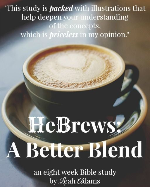 Blending Old and New Testaments for an in-depth look at the book of Hebrews.  Includes the perfect blending of dessert and coffee to go with the study.