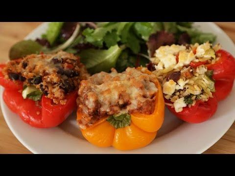 Bell Pepper Tacos Stuffed 3 Ways Video Tutorial