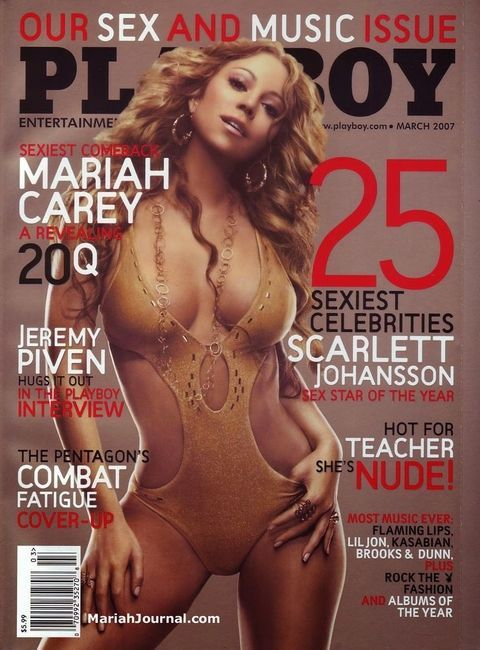 Mariah Carey March 2007. See all the celebrities who posed on the cover of Playboy here!