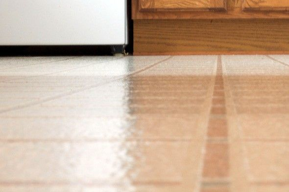 vinyl and linoleum: mix 1 cup vinegar and a few drops of baby oil in 1 gallon warm water. For tough jobs, add 1/4 cup borox. Use sparingly on lineoleum.