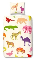 kids bed linen, animals, multicolour, boys, girls, unisex, affordable, bedding