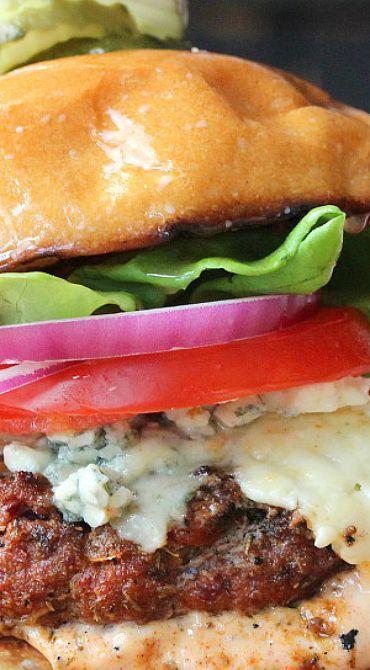 Rockin' Black and Blue Burger