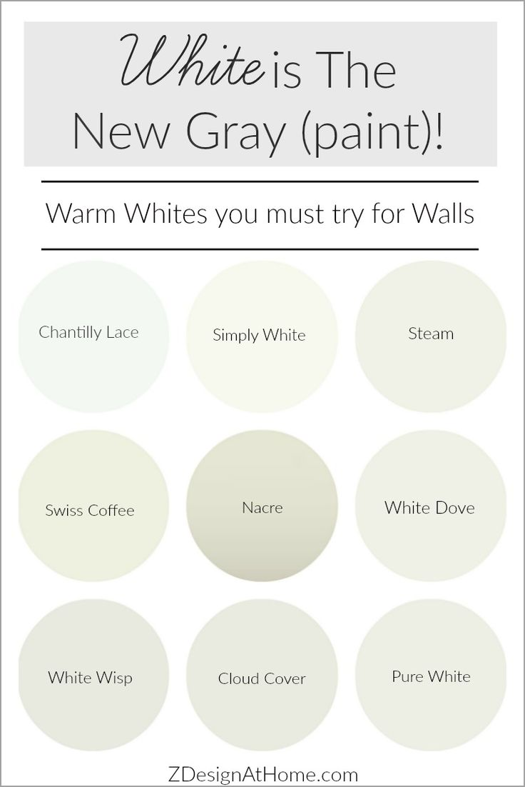 Benjamin Moore Warm White Paint Colors