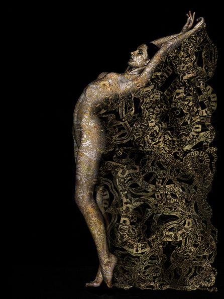 """Golden Veil"" by Yasmina Alaoui and Marco Guerra.  Part of their 1001 Dreams collection."