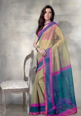 Wedding collection, Lemon net indian sari, now in shop. Andaaz Fashion  brings latest designer ethnic wear collection in US