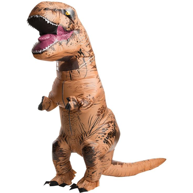 From the Jurassic Park movies this Adult Halloween Costume Dinosaur Monster Fancy Polka Dot Inflatable Dress takes a   journey back in time as the fearsome and ferocious Tyrannosaurus Rex!