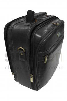 S Babila Expanding Leather Cabin Bag Expanding Leather Cabin Bag. Just the right size to be taken on as hand luggage on most air planes. A very classy Flight bag. http://www.comparestoreprices.co.uk/mens-clothing-accessories/s-babila-expanding-leather-cabin-bag.asp