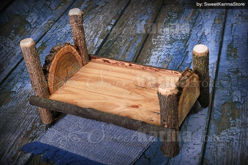 Custom Infant Newborn Log Bed Photography Photo Prop Real Wood | eBay