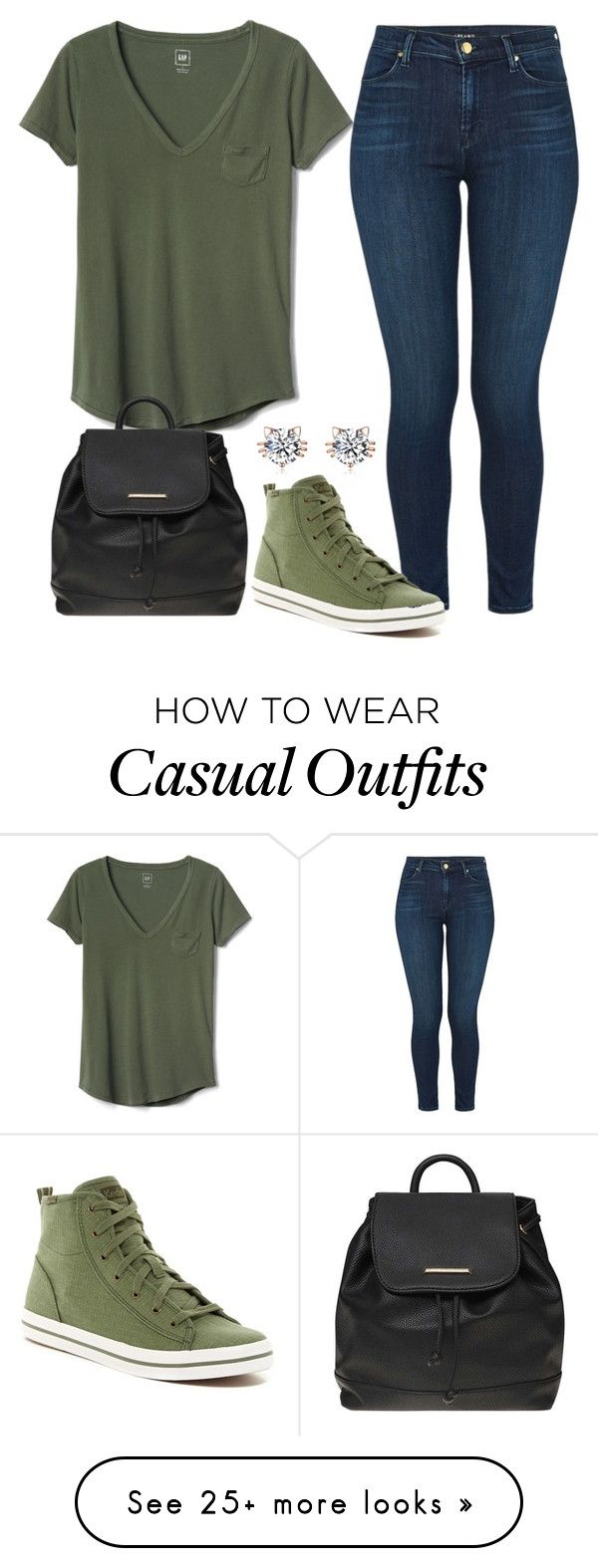 """Casual"" by mrsaguirre on Polyvore featuring Gap, Dorothy Perkins, J Brand and Keds"