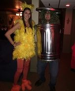 Coolest couples Halloween costumes - Big Bird and Oscar the Grouch Homemade Costume