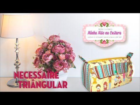Necessaire Triangular com bolso para Makes e Esmaltes | Minha Mãe na Costura - YouTube