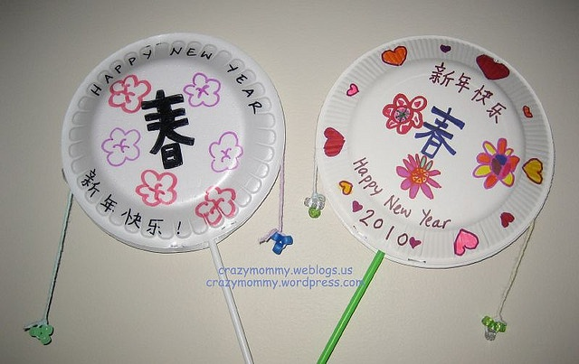 Chinese New Year Craft 2010 - Chinese Tiger Hand Drum by crazymommy, via Flickr