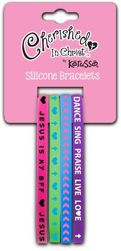 Jesus Is My BFF Silicone Bracelet Set