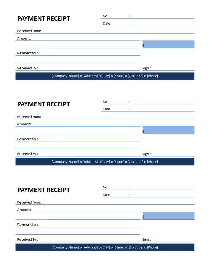 Payment Receipt template - Download this free printable Payment Receipt template to give to your customers to confirm receipt of payment.