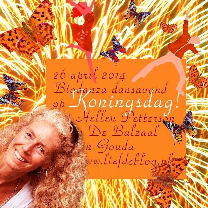 Koningsdag Biodanza dansavond met Hellen Petterson in de balzaal in Gouda 26 april 2014