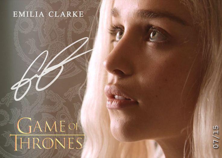 Daenerys Targaryen Emilia Clarke - Khaleesi Game of Thrones AutoRepro Card XX1