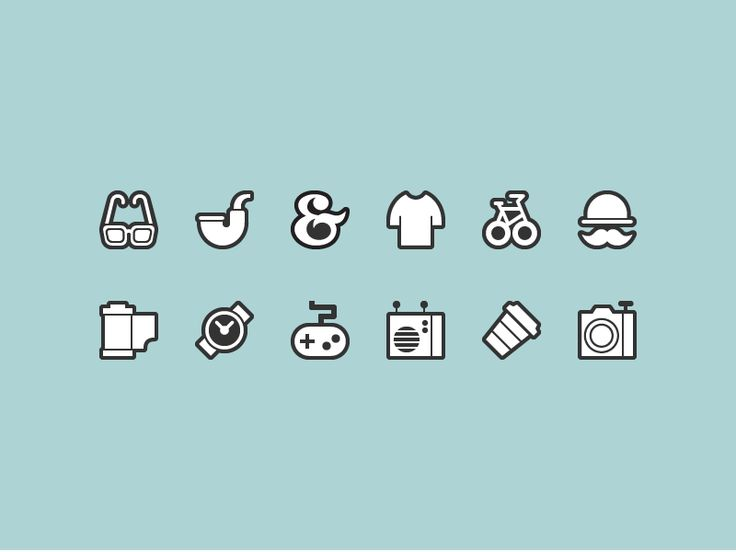 hipster icons - Google Search