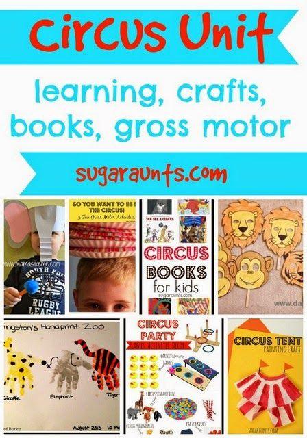 Sugar Aunts: Circus Preschool Toddler Theme Summer Camp at Home