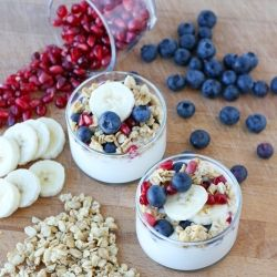 Simple and delicious Yogurt Parfaits make healthy eating easy! ---really easy