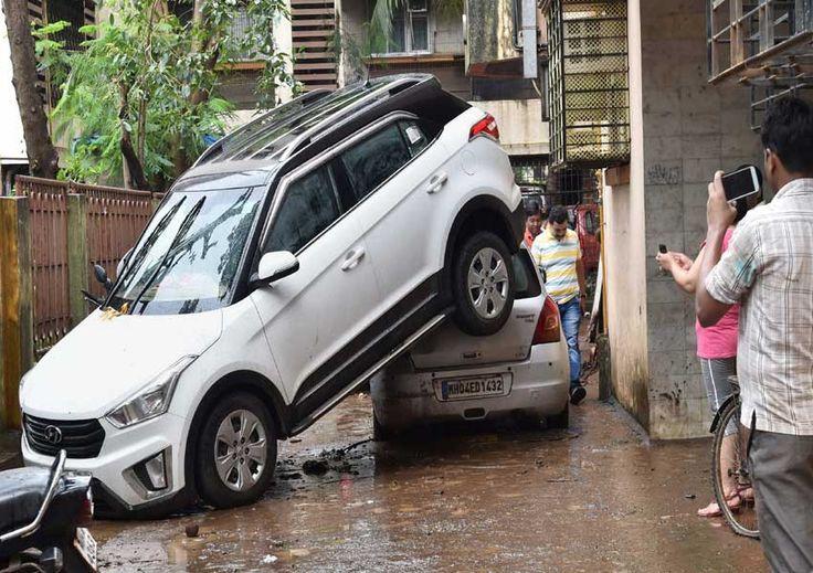 Mumbai Flood  Secluded Luxury cars.
