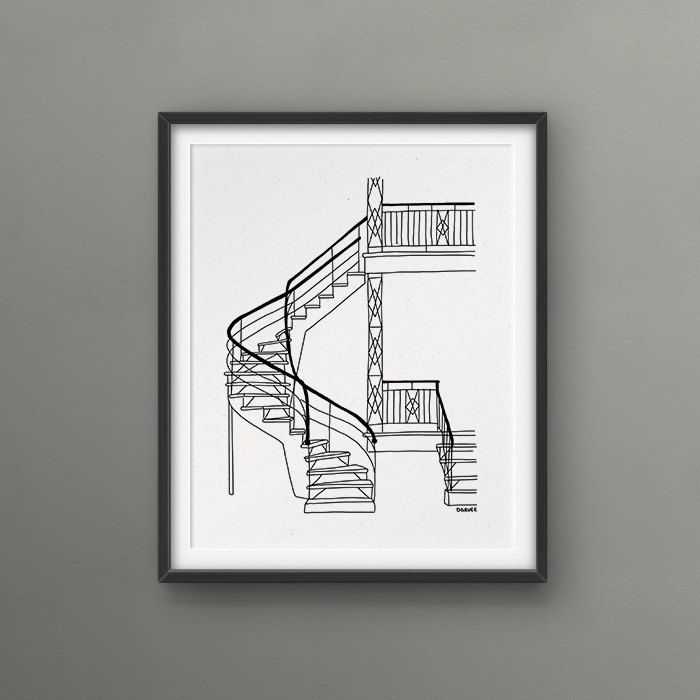 External staircase Montreal Scenery 8x10 Art Print // Love/Hate Montreal / kinda beautiful kinda dangerous