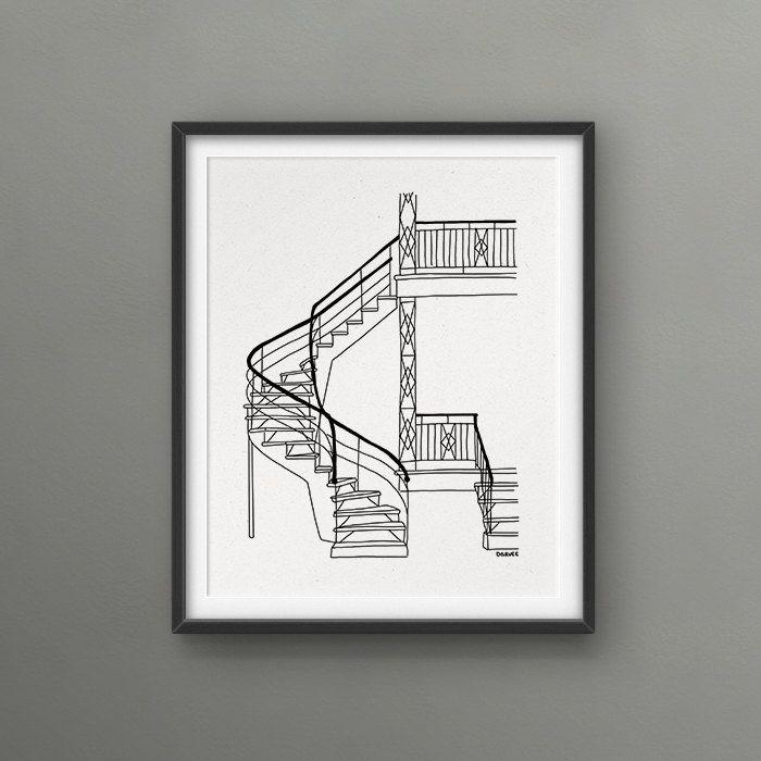 External staircase Montreal Scenery 8x10 Art Print // Love/Hate Montreal / kinda beautiful kinda dangerous